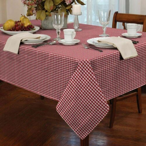Gingham Check Tablecloths Kitchen Cafe Square Round Rectangle ~ Small Large ~