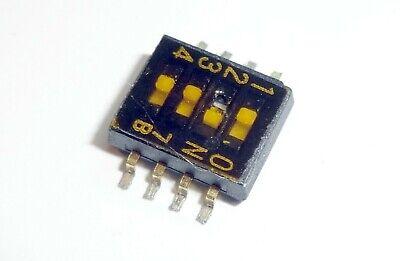 1-poliger Ein-// Ausschalter 4 Positionen 2 x Wippschalter// DIP-Schalter