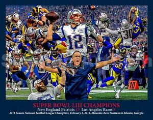 New England Patriots Super Bowl Champions Tom Brady 2019 Art CHOICES ... 05c404274