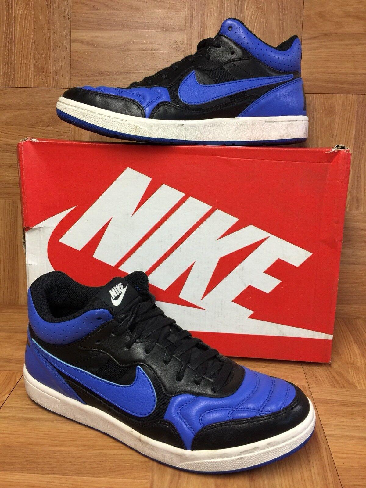 RARE  Nike Tiempo '94 Mid QS Black Royal Blue Leather Ivory 8 Men's 641147-041