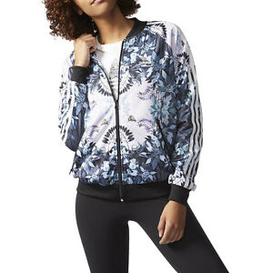 Adidas Women's Romantic Woods Florera Superstar Track Jacket AB1991 NEW!