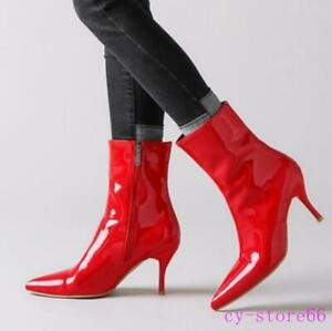 Womens Pointy Toe Ankle Boots High Heel