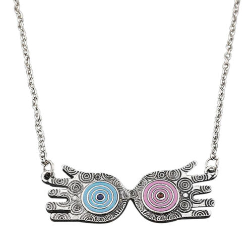 Luna Lovegood Glasses Harry Potter Eye Figure Pendant Choker Necklace