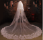 Wedding-Veils-2T-Cathedral-Lace-With-Comb-Bridal-Accessories-Veil-White-Ivory thumbnail 1