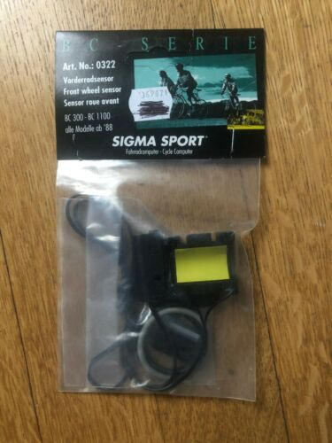 No New-Old-Stock SIGMA SPORT Front Wheel Sensor for BC300-BC-1100; Art 0322
