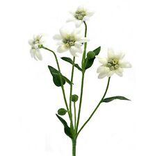 30cm Artificial Edelweiss Flower Spray / Plant - Decorative White Flowers