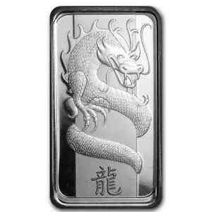 10 Gram Pure 999 Silver Year Of The Dragon Pamp Suisse