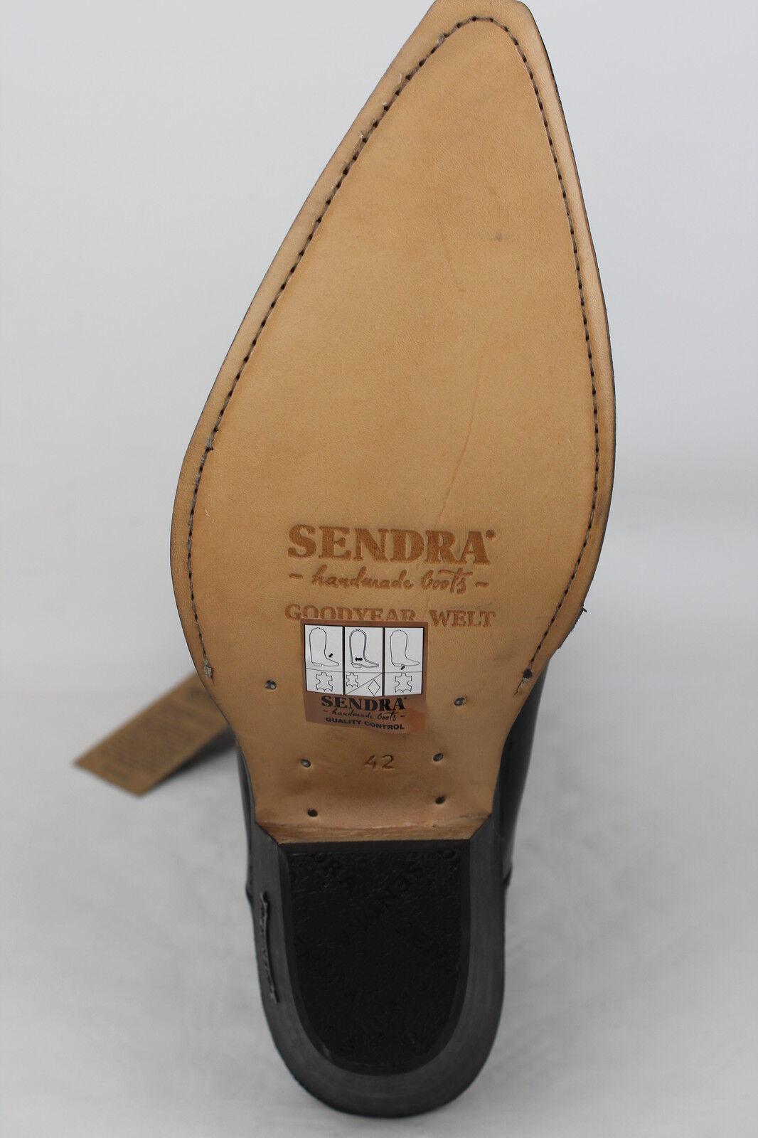 Sendra Stiefel Cowboystiefel Westernstiefel  Schwarz 4133 Schwarz  eeba84