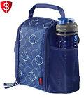 Lunch Bag Kids School Picnic Travel Shoulder Strap Insulated Pocket Bottle Food