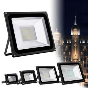 10-500W LED Fluter Strahler Scheinwerfer Baustrahler Außenleuchte Garten IP65