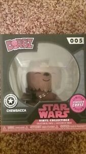 Funko Pop! Star Wars  CHEWBACCA Dorbz Disney Store Exclusive CHASE FLOCKED