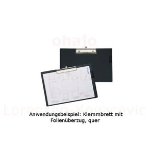 MAUL Klemmbrett mit Folienüberzug DIN A5 schwarz