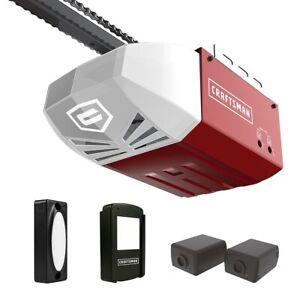 Craftsman 1 2 Hp Chain Cable Drive Garage Door Opener Ac Series 100 Remote Rail Ebay