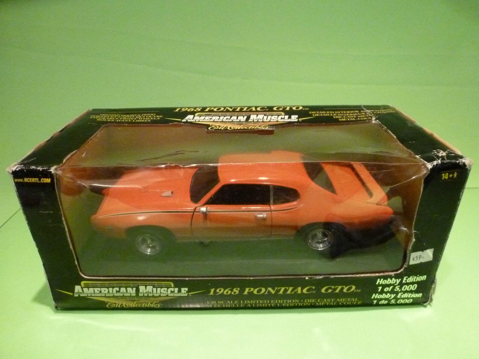 autorización ERTL AMERICAN MUSCLE 36678 PONTIAC GTO 1968 1968 1968 - naranja 1 18 - VERY GOOD IN BOX  precios mas bajos