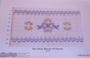 "NEW Smocking Plate ""The Classic Bow for All Seasons""  Ellen McCarn"
