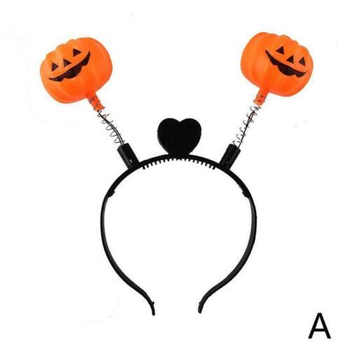 Pumpkin Halloween Hairband Headband Skull Party Light Up Fancy Dress Access Top