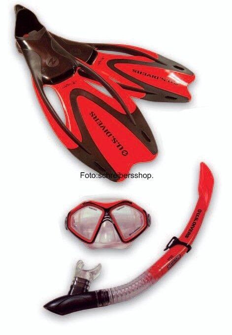 Aqualung Proflex X rot Masken Flossen Set ALLE Größen