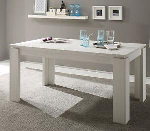 esstisch holztisch esszimmertisch wei pinie ausziehbar 90 x 160 200 k chentisch ebay. Black Bedroom Furniture Sets. Home Design Ideas