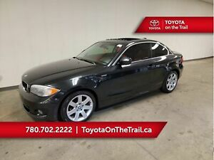 2013 BMW 1 Series 28i; RED LEATHER!! LOW KM!! SUNROOF, HEATED SEATS
