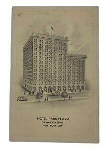 Vintage-Postcard-Hotel-Park-Plaza-New-York-City-50-West-77th-Street-Unposted