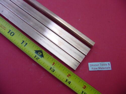 "4 Pieces 1//4/""x 1//2/"" C110 COPPER BAR 14/"" long Solid Flat .25/"" Bus Bar Stock H02"