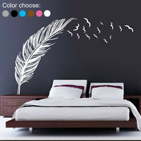 Wall Sticker Vinyl Birds Flying Feather Removable Home Decal Mural Art Decor DIY