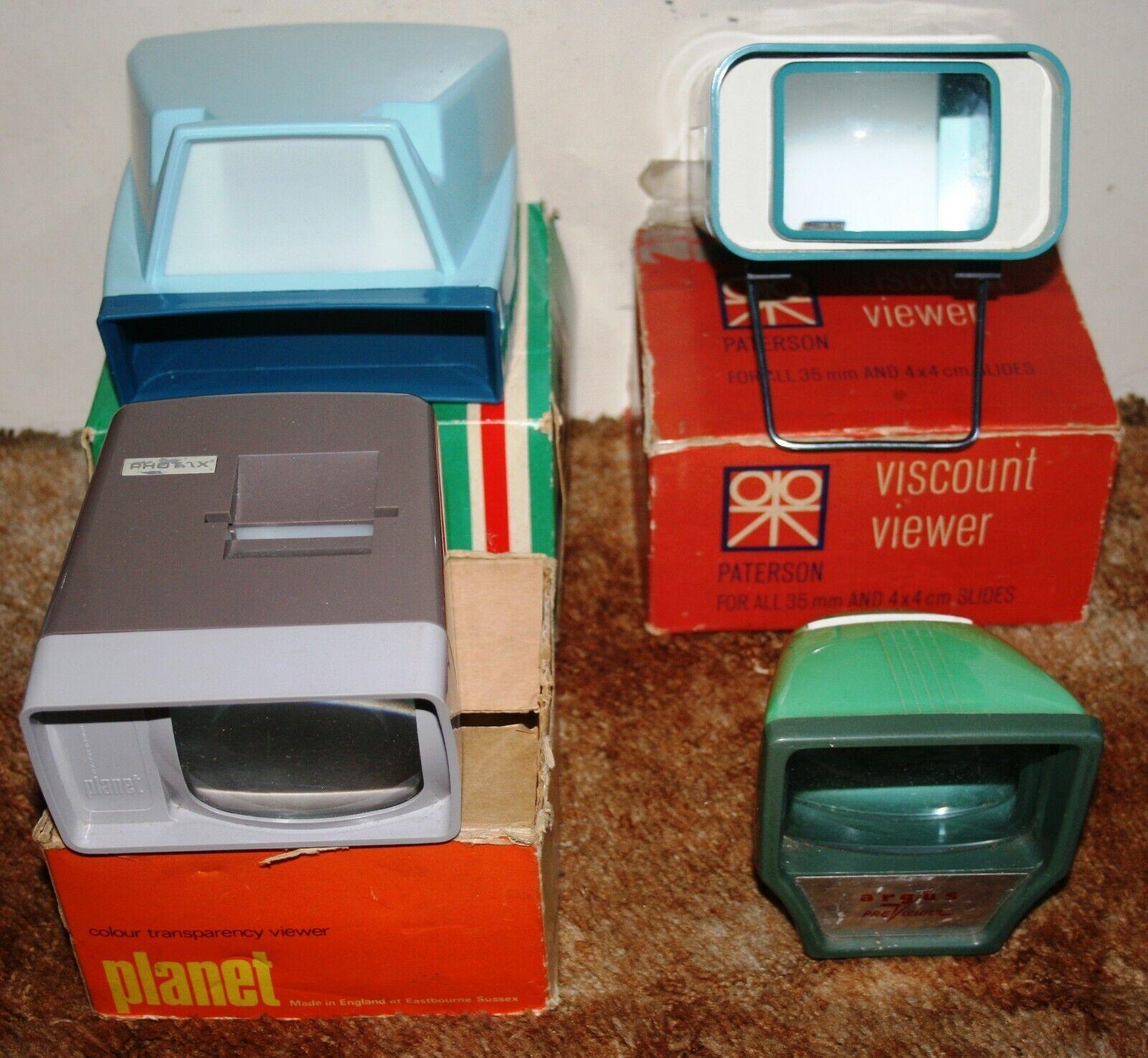 Viscount / Hanimex / Photax / Argus - 35mm Slide / Transparency Viewer - Job Lot