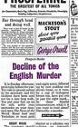 Decline of the English Murder by George Orwell (Paperback, 2009)