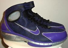 NEW 2007 NIKE AIR ZOOM HUARACHE 2K4 KOBE LASER BLK/ MET SIL/ VAR PURP SHOES 11.5