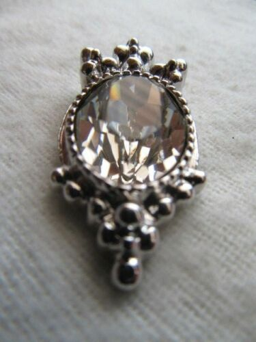 """Details about  /NWOT St Clear Crystal Zipper Pull pendant 1 1//2/"""" John Knit Silver"""