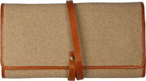 Passatore Pipe Roll Bag 2er / Canvas & Leather Cognac / 200 MM