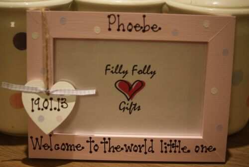 Personalised Photo Frame by Filly Folly My First Cousin Baby Scan Gift!