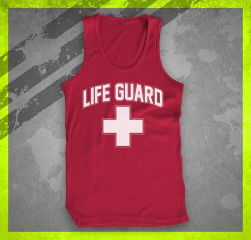 LIFE GUARD LIFEGUARD BEACH PATROL OCEAN SAFETY REEF SWIMMING TEE MENS TANK TOP