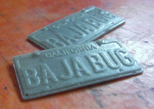 BAJA BUG repro Number Plates for Tamiya 1//10 beetle ect. Sand Scorcher