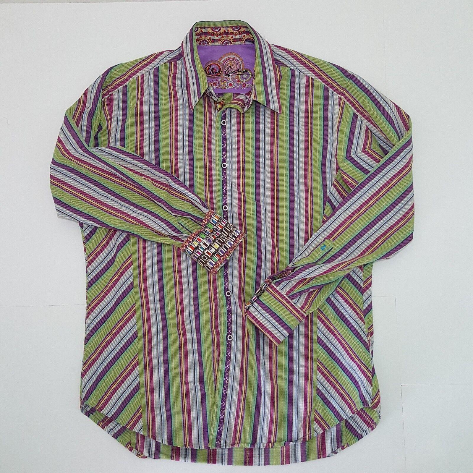 Robert graham mens shirts medium Button Down