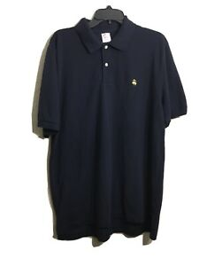 Brooks-Brooks-1818-Performance-Men-039-s-Polo-Original-Fit-Blue-Shirt-Sz-L