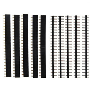 5-PCS-40-Pin-2-54mm-Single-Row-Straight-Male-Female-Pin-Header-Strip-AD