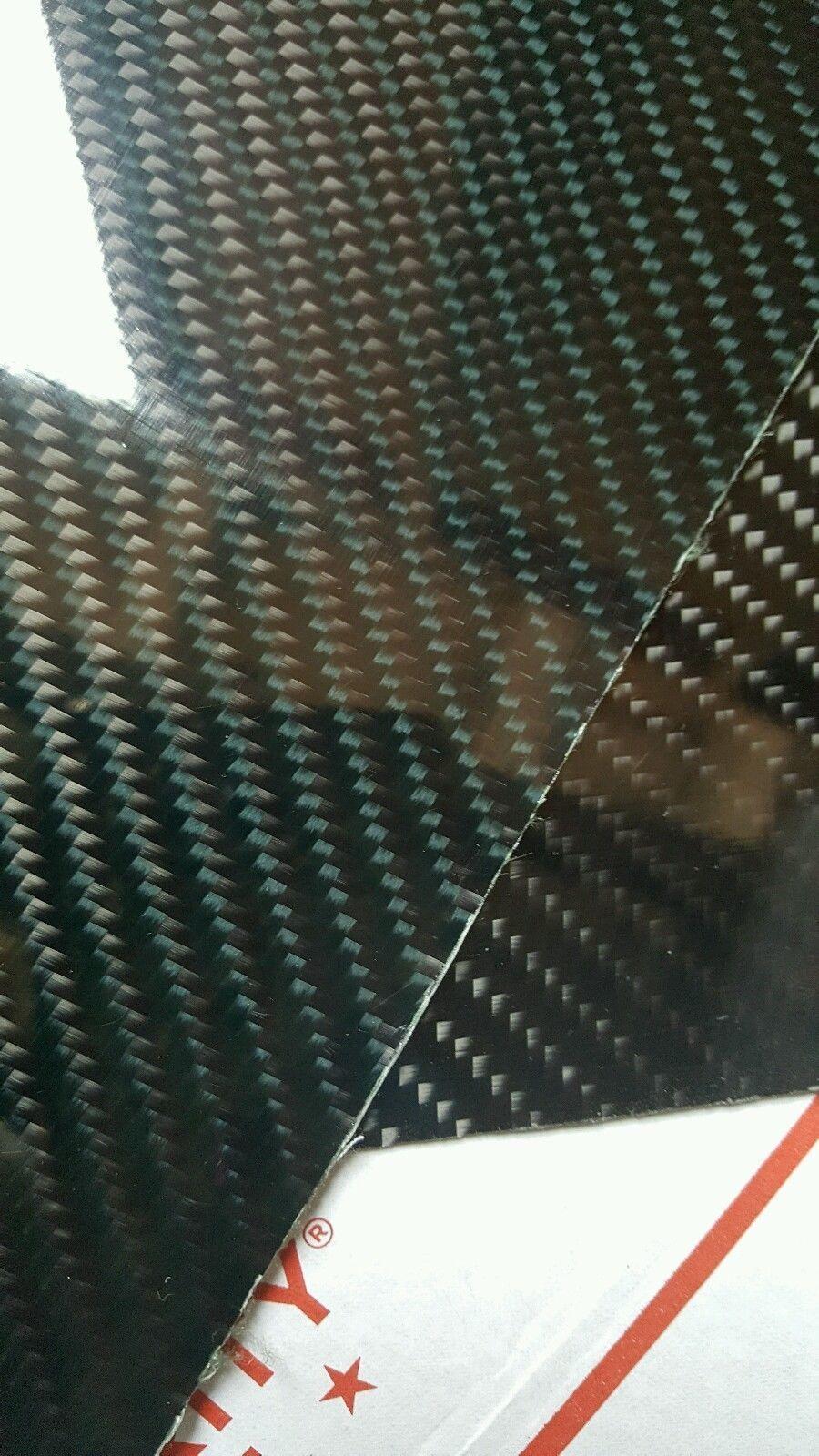 Carbon Fiber kevlar Hybrid Fiberglass Panel 6 ×42 ×1/16  Glossy One Side verde