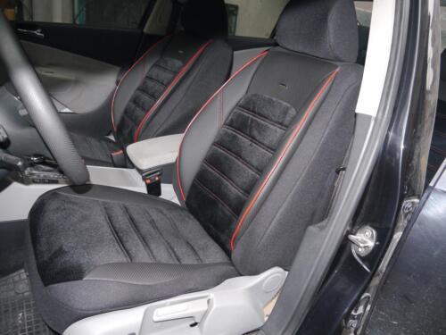 Ya referencias fundas para asientos completamente para Mercedes-Benz Clase B no414683 negro-rojo