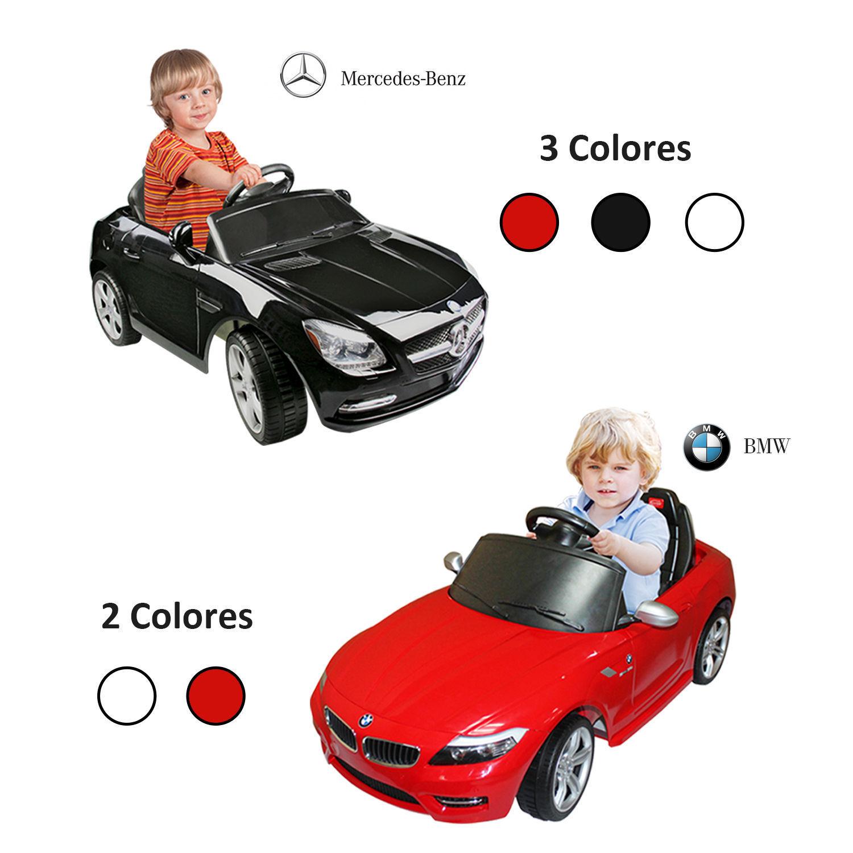 Mini Coche Eléctrico Bateria 6V para Niños BMW Mercedes Benz con Control Remoto