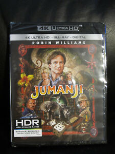 Jumanji-4K-UHD-Blu-Ray-Digital-HD-New-Sealed-Region-Free-Robin-Williams-Kids