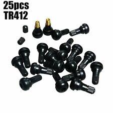 10pcs TR412 Black Rubber Tubeless Tire Stubby Valve Stems SUV ATV Car Motorcycle