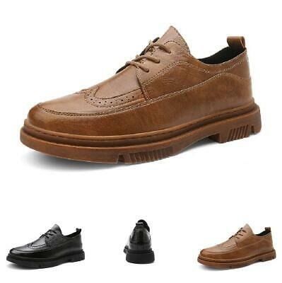 Details about  /Mens Low Top Business Leisure Shoes Pointy Toe Work Office Wedding Lace up New L