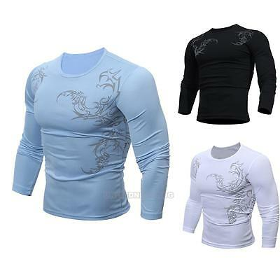 2017 Fashion Winter Men's Slim Fit Long Sleeve Tops Pullover T-shirts Tee Shirt