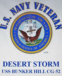 US Navy USS Bunker Hill CG-52 T-Shirt