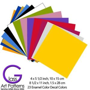 23-Solid-Colors-Enamel-Decals-for-Fused-Glass-Ceramics-Waterslide-2-Sheet-Sizes