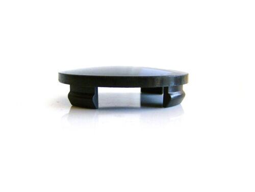X1 Alutec 60 mm Centre de Roue Anneau Robinet Noir avec Logo Argent N23