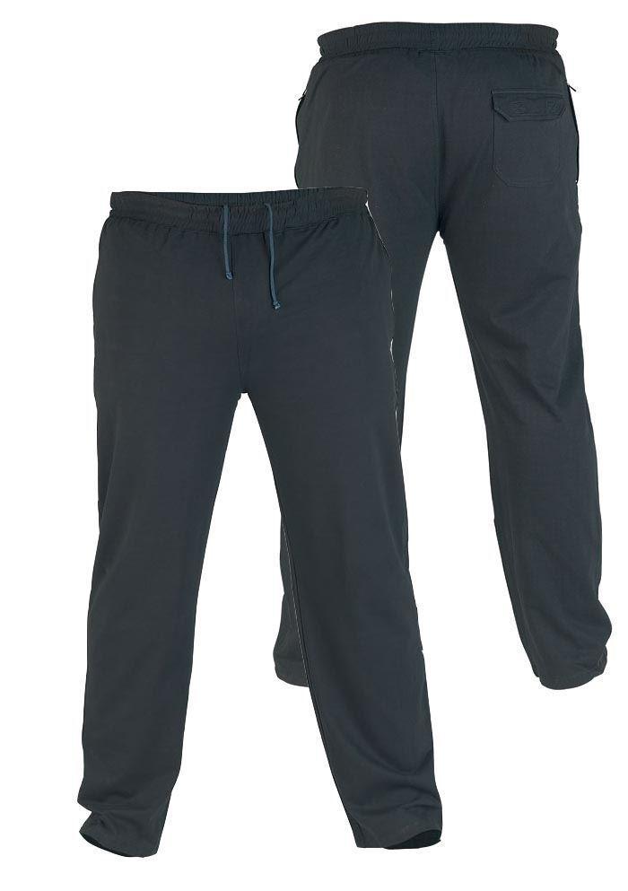 RORY- D555 KingDimensione leggero pile jogger nero (1420)