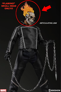 1 6 Scale Sideshow Collectibles - GHOST RIDER - FLAMING SKULL HEAD