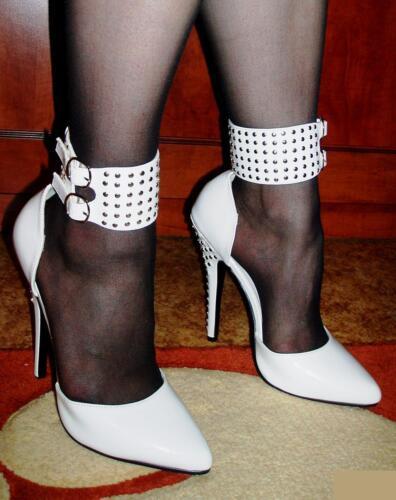 Estilete Cm 15 En Negras N De 36 Tobilleras Cuero Domina Atractivas Con Tacón Zapatillas 6aq4Oqw